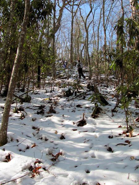 Climbing the 'Bastard Bear' ridge