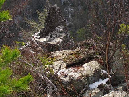"Close up of the ""Shrine Rock'"