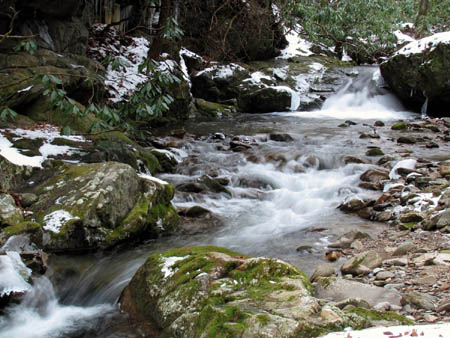 Cascades along Rocky Fork Creek