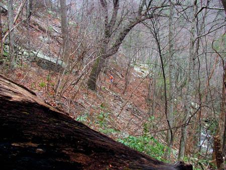 Dave hiking the high trail